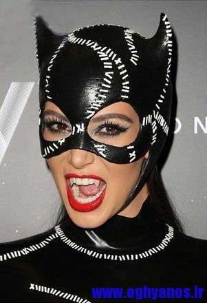 1414840366371 - چهره کیم کارداشیان در جشن هالووین