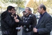 محمد مایلی کهن با دست دستبند خورده، در حال انتقال به زندان اوین +تصویر