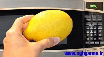 1417298478541 - اموزش تمیز کردن مایکروویو با لیمو