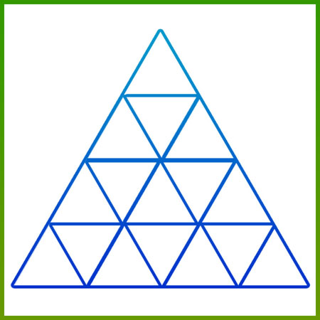 معمای تصویری چند مثلث در شکل وجود دارد