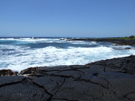 Punalu'u، پونالو ساحل شن های سیاه