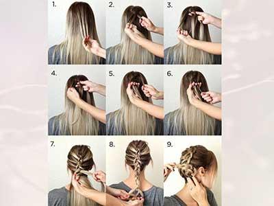 مدل بافت موی هلندی زیبا برای دور سر