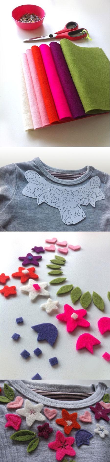 تزیین بلوز ساده,تزیین یقه لباس