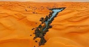 دریاچه های زیبا در وسط شنزارهای لیبی