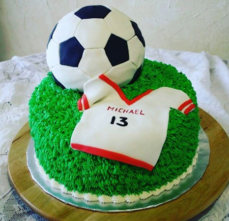 کیک تولد با تم فوتبال,عکس های کیک فوتبالی