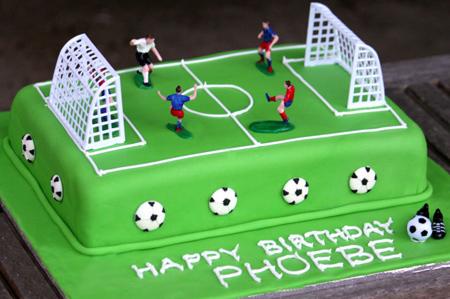 کیک تولد,کیک فوتبالی