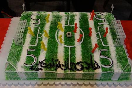 کیک فوتبالی,مدل کیک فوتبالی