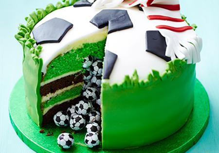 کیک فوتبال مخصوص تولد,کیک تولد