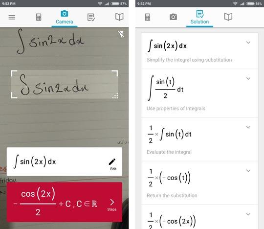 3 1 - حل مسائل ریاضی با دوربین با اپلیکیشن Photomath +دانلود