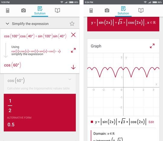 5 1 - حل مسائل ریاضی با دوربین با اپلیکیشن Photomath +دانلود