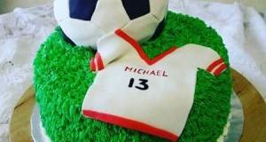 مدل کیک تولد با تم فوتبال