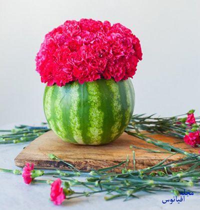 گلدان هندوانه ای,ساخت گلدان هندوانه ای
