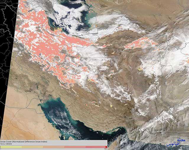 ایران سپیدپوش از نگاه ماهوارههای ناسا