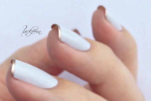 طراحی ناخن - فرنچ سفید