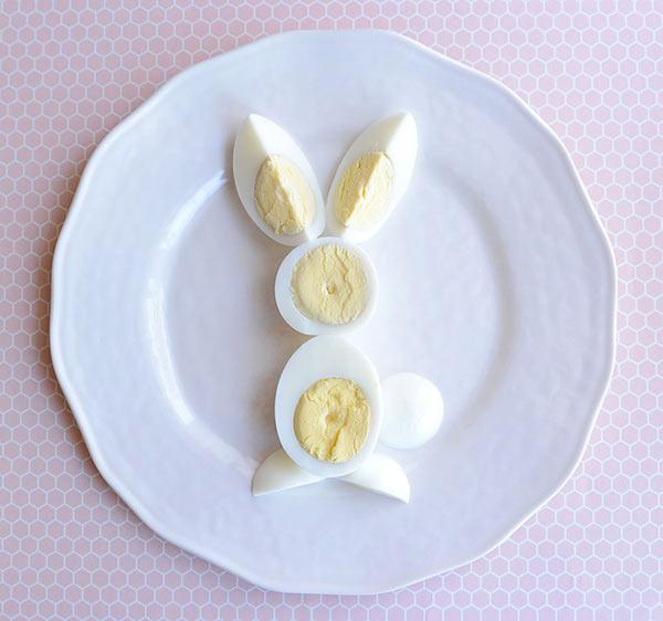 عکس تخم مرغ پخته به شکل خرگوش