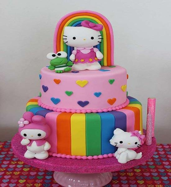 عکس کیک تولد کیتی