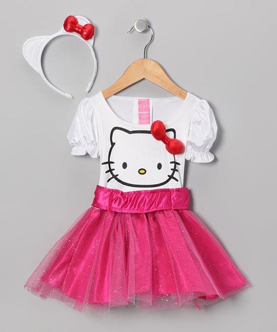 عکس مدل لباس دخترانه برای تم تولد کیتی