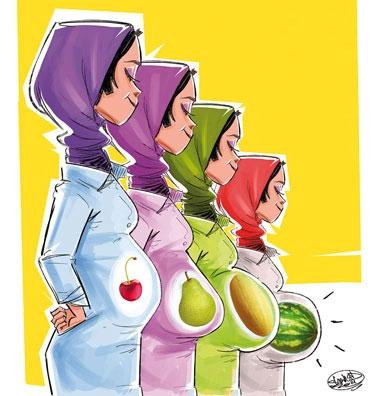 شکم شما هندوانهای است یا آلبالویی؟