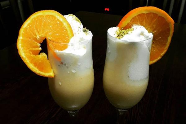 میلک شیک پرتقال
