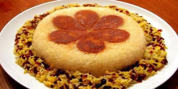عکس تزیین غذا در سفره های ایرانی