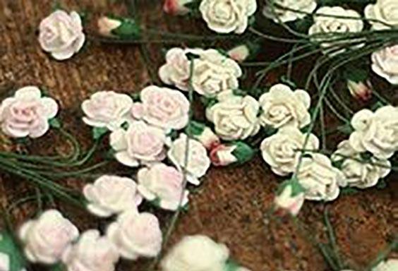 عکس روش درست کردن تل سر مجلسی با گل