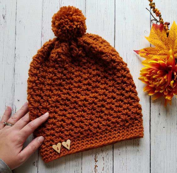مدل کلاه بافتنی دخترانه ساده و شیک