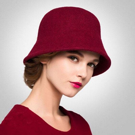مدل کلاه بافتنی دخترانه  مناسب فرم صورت مثلثی یا قلب