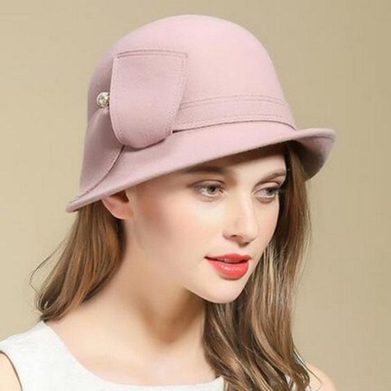 مدل کلاه بافتنی دخترانه  مناسب فرم صورت مستطیلی یا کشیده