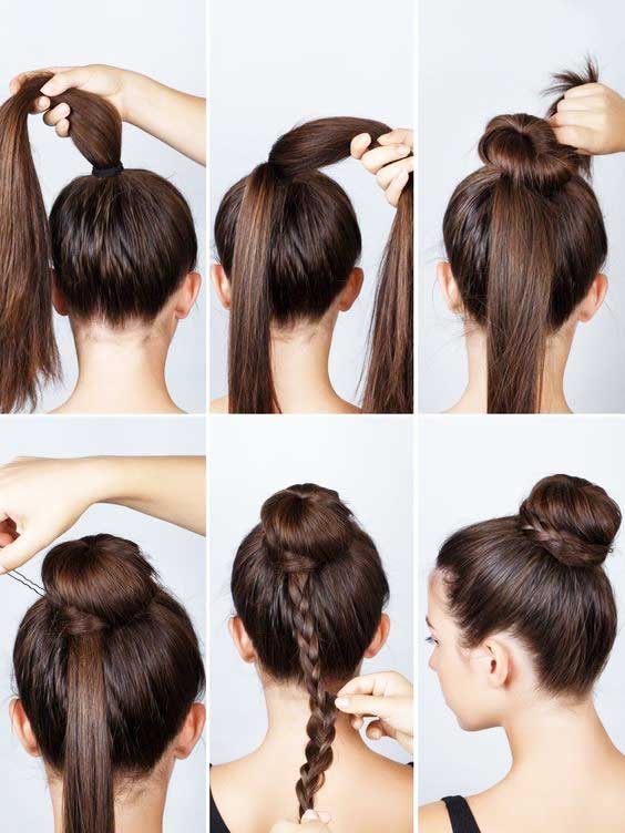 آموزش مدل بافت مو دخترانه جمع شده