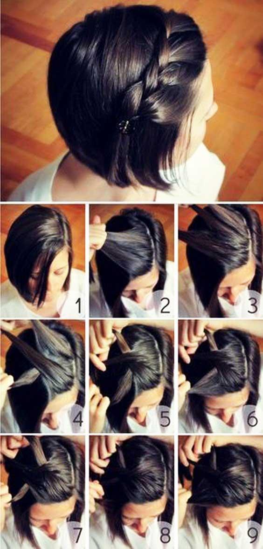 آموزش مدل بافت مو دخترانه کوتاه فرانسوی