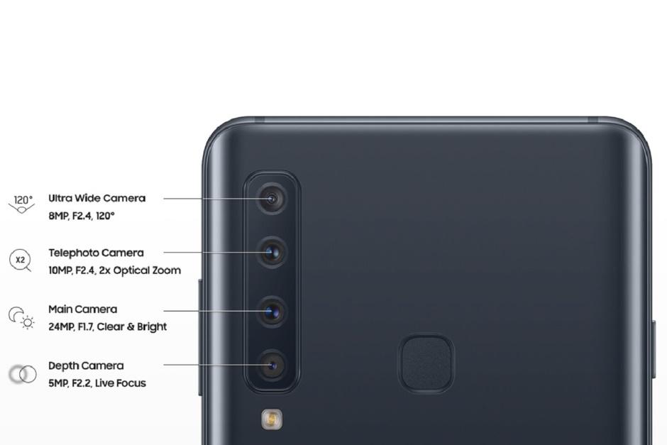 گوشی ۷۰۰ دلاری گلکسی ای ۹ با ۴ دوربین در پشت / عکس