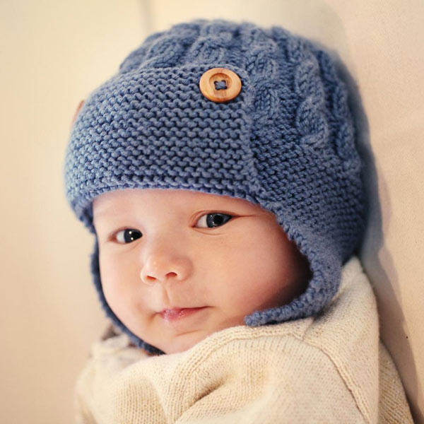 انواع مدلهای لباس بافتنی نوزاد پسر - کلاه نوزادی