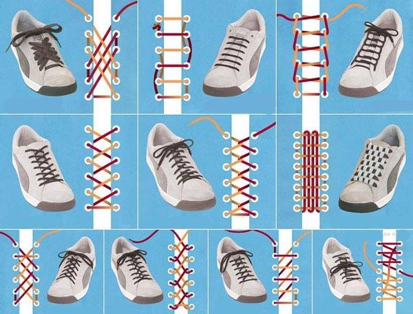 روش بستن بند کفش