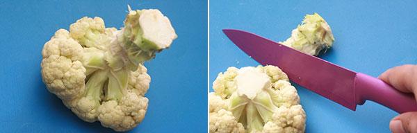 جدا کردن ساقه گل کلم