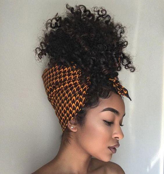 توربان با روسری برای موی فر