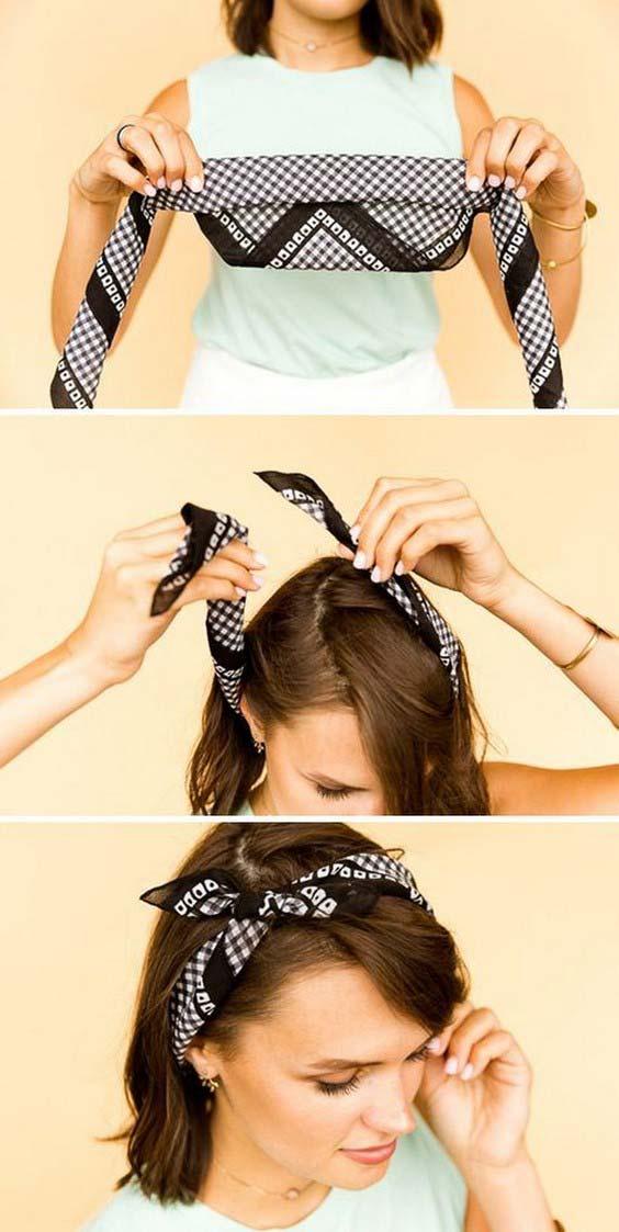 آموزش بستن توربان ساده با روسری