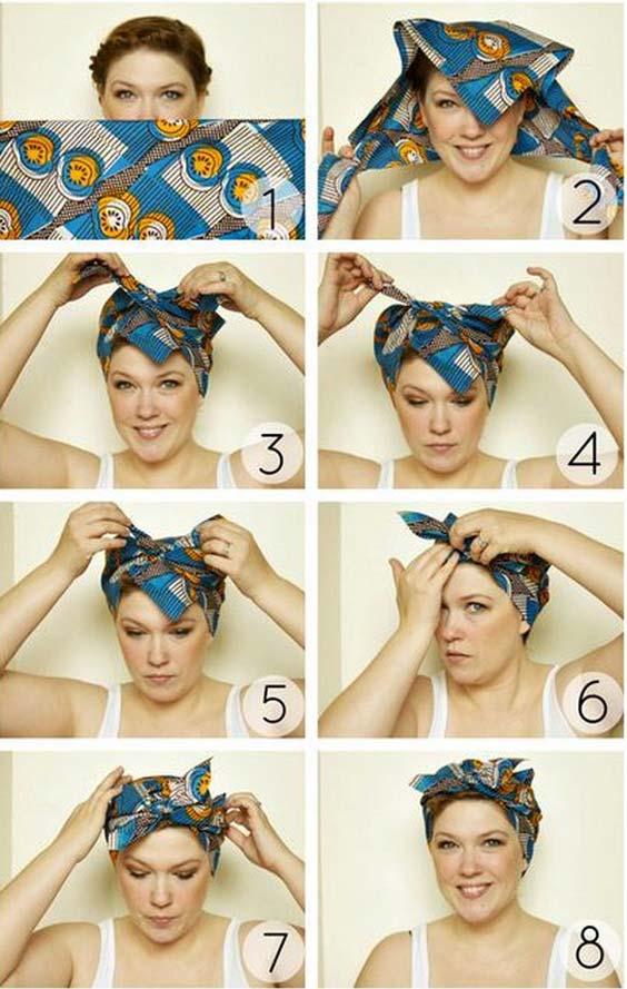 آموزش بستن توربان با روسری
