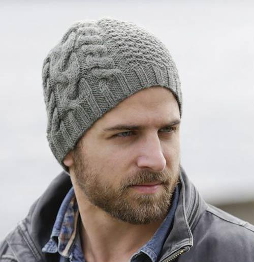 عکس کلاه بافتنی مردانه مدل پیچ