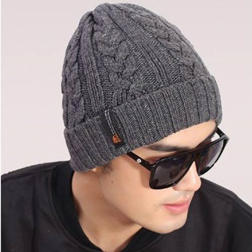 عکس کلاه بافتنی مردانه مدل گیس