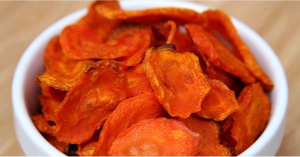 مصرف هویج به صورت چیپس میوه