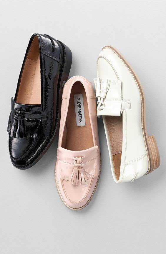 مدل کفش کالج زنانه چرم - ورنی - رسمی