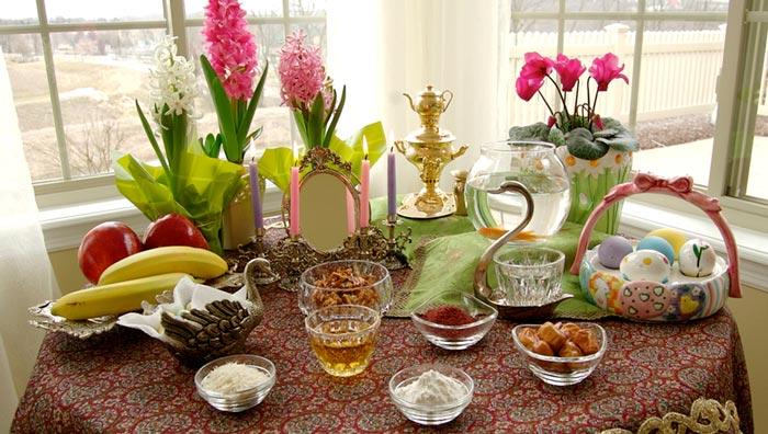 ایدههای تزئین میز پذیرایی عید نوروز
