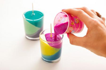 making2 candles2 candlestick2 - درست کردن شمع با مدادشمعی و پارافین