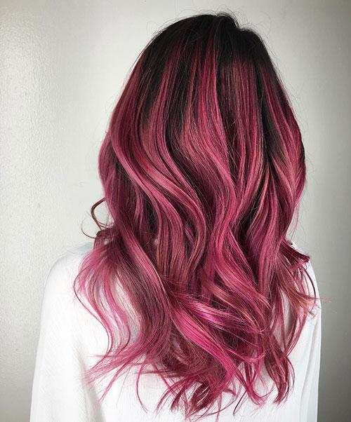 رنگ موی شرابی بنفش