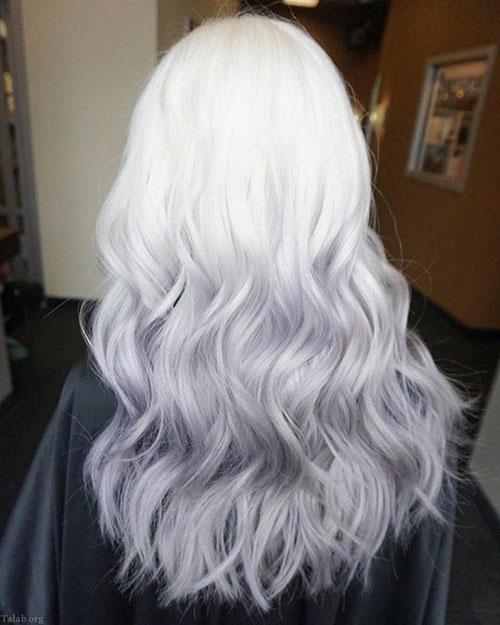 رنگ موی یخی نقرهای