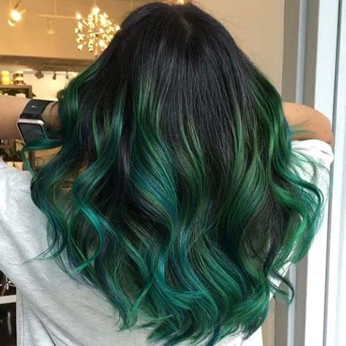 رنگ موی سبز