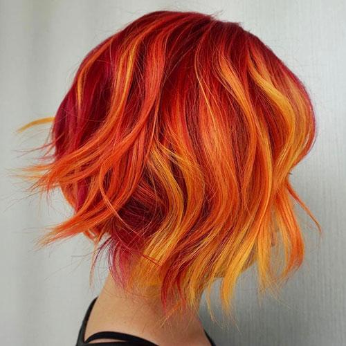 رنگ موی قرمز نارنجی