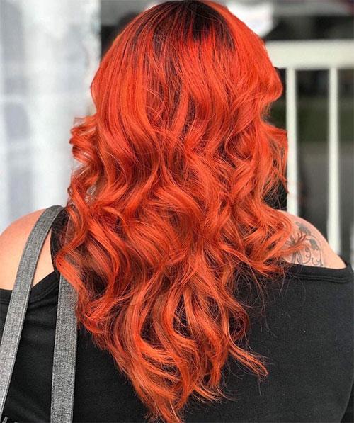 رنگ موی پاییزی یا نارنجی