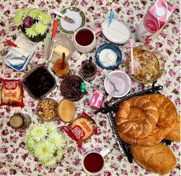 تزیین میز صبحانه ایرانی برای عروس