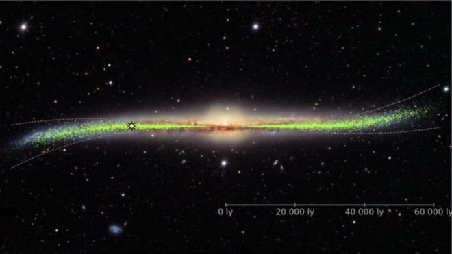 img 5d45497198cc8 - شکل کهکشان راه شیری تخت نیست و پیچ و تاب دارد